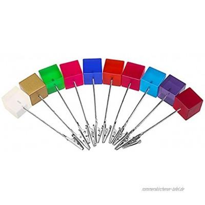 WINOMO 10ST Memo Foto Halter Karte Hinweis Büroklammer zufällige Farbe