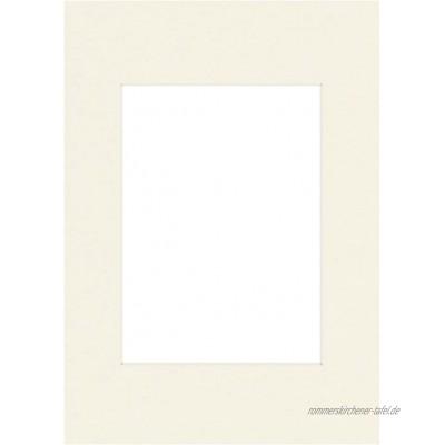 Hama Premium Passepartout 30 x 40 cm für Bilder im Format 20 x 28 schneeweiß