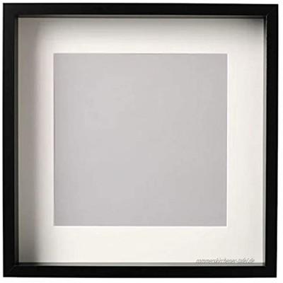 IKEA Sannahed Bilderrahmen Innenmaß 35x35x4cm Außenmaß 37x37cm Objektrahmen inkl. Passepartout schwarz