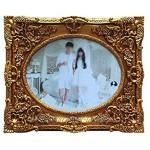 Bilderrahmen 10-Zoll-Fotorahmen Europäischen Stil Retro Bilderrahmen Dekoration Rahmen Hochzeits-Foto für Tisch- & Wandmontage Gold Dekoration Color : Gold Größe : A