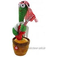Kaktus Tanzen Spielzeug,32cm 8 Beliebte LiederSingen Und Tanzen Kaktus Mit Gitarre Dekoration Lustige Frühkindliche Bildung Kinderspielzeug