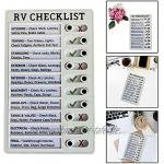 KT-TAIDENG Portable Memo Plastic Board RV Checklist Memo Plastic Board Detachable and Reusable Creative Memo Checklist Elder
