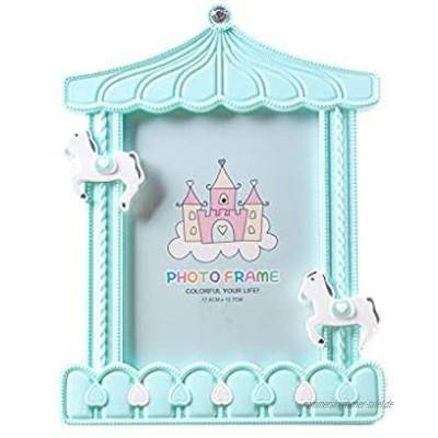ROEWP Bilderrahmen Karikatur-Foto-Rahmen 7-Zoll 12,7 * 17,3 cm Einfache Baby-Set-up Kreative Kinders Niedliche Wandmontage Baby-Flasche Karussell-Bilderrahmen Dekoration Color : C
