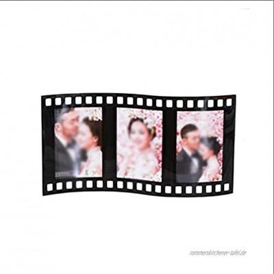 ROEWP Bilderrahmen Kristall-Foto-Rahmen 5-Zoll-Koreanisches kreatives Foto-Studio-Hochzeits-Foto-Baby-Dreifach-Foto-Rahmen-Glas-Einstellung schwarz Dekoration Color : Black