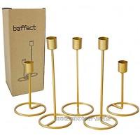 Baffect Saison Kerzenhalter Set 5 Eisen Kerzenlicht Halter Hochzeit Weihnachten Tischdekoration Gold Kerzenhalter für Hochzeit Dinner Feast Decor 5 Stück