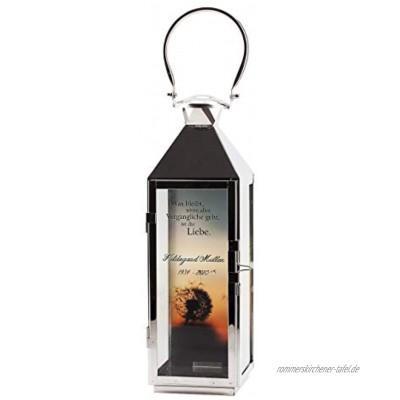 private grief Trauer-Laterne mit Beschriftung Motivwahl für Trauerfeiern oder stille Andacht Pusteblume