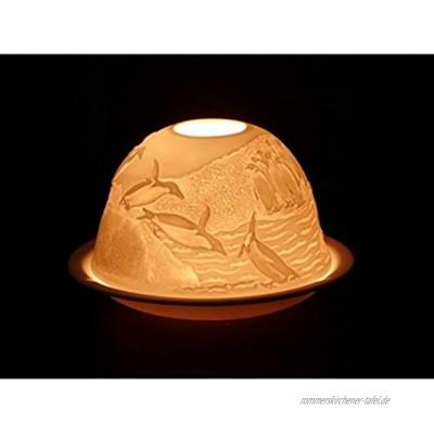 Teelicht Windlicht Pinguin Dome Light Porzellan Teelichtkerzenhalter aus Feinporzellan