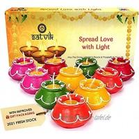 10-teiliges Diwali-Geschenk-Set natürliche Öllämpchen Dekorationen traditionelle Matki mit Baumwolldocht Deepawali Diya-Lampe. Diwali Steingut-Lampe. Öllampe.