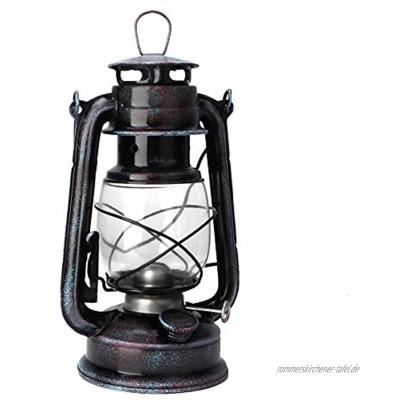 BYARSS Petroleumlampe 24 cm Klassische Petroleumlampe Vintage Petroleumlaterne Öllampe Tragbare Camping-Außenleuchten