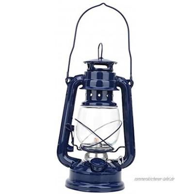 koulate Hurricane Lamps Vintage Storm Lantern Lichter Öllampe Brennende Laterne Retro Petroleumlampen Klassische Öllampe Tischlaternen für Haus Garten Camping CitronellaBlau
