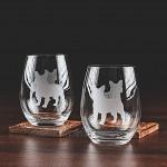 Greenline Goods Französische Bulldogge Weingläser 2er Set |Einzigartig für HundeliebhaberHandgeätzt mit Rassennamen auf der Unterseite
