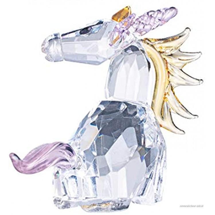 LONGWIN Kristall-Einhorn-Figuren aus Glas Heimdekoration Ornamente Sammlerstück für Kinder