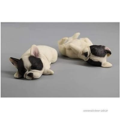 LXRZLS Französische Bulldogge Welpe Entzückende Mini-Welpe Sammlerstück Figur Schwarz Weiß Farbe: A1 Color : A3
