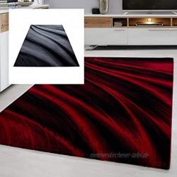 Ayyildiz Teppich modern Designer Wohnzimmer Abstrakt Muster Rot oder Schwarz Größe:160 x 230 cm Farbe:Rot