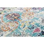 CARPETIA Teppich Outdoor Orientteppich Ornamente Wohnzimmerteppich Vintage in grau blau Größe 80 x 300 cm