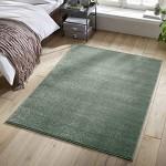 Designer-Teppich Pastell Kollektion | Flauschige Flachflor Teppiche fürs Wohnzimmer Esszimmer Schlafzimmer oder Kinderzimmer | Einfarbig Schadstoffgeprüft Mint Grün 120 x 170 cm