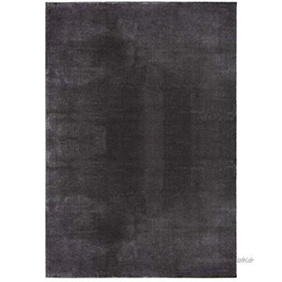 """Mia´s Teppiche """"Olivia"""" Wohnzimmer Teppich Kurzflor 80x150 cm Anthrazit"""
