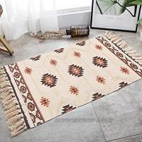 NN Marokkanische Teppiche Teppiche Baumwollteppich Tufted Tapisserie Gewebte Teppiche mit Quaste Teppiche Wohnzimmer Schlafzimmer Küche Badezimmer Türmatte 60 x 90 cm