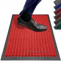Fußmatten in Allen Farben und Größen [rutschfest waschbar & schmal] optimale Größe für die Haustür. Fußmatte innen & Fußmatte außen. Fußmatte 40x60 Schmutzfangmatte 40x60 Fussmatte innen rot PazCaz