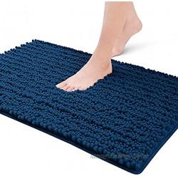 Color&Geometry Badezimmerteppich Badematte rutschfest 40x60cm superweich ,Super Wasser aufnehmen maschinenwaschbar Badteppich Strapazierfähiger Mikrofaser-badvorlege für das BadezimmerDunkelBlau