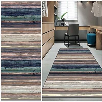 FKYUH Teppich Läufer Flur rutschfest Waschbar Bunt Streifen Lange Kücheläufer Teppichläufer Polyester Meterware Anpassbar Color : Stil-E Größe : 60x100cm