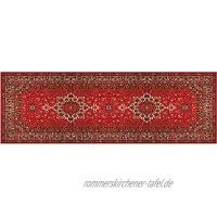 matches21 Teppichläufer Küchenläufer Teppich Läufer Ornamente Perser Orient rot beige Velours & Latex waschbar 60x180 cm