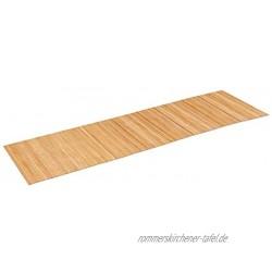 PANA ECO Bambus Küchenläufer •I Holz Küchenteppich für Flur • Teppich waschbar & rutschfest • Läufer 100% Bambus • nachhaltig • Farbe: Natur • Größe: 50 x 180 cm