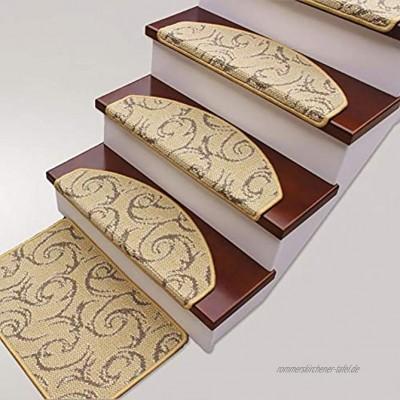 Carpets Stufenmatten Treppen-Teppich Modern Selbstklebend Schritt Pad Runde Jacquard-Treppe Mat Home Treppenteppich Innendekoration Run-anmy0630 Color : Color A65x24cm Size : 1pc