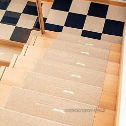 Ein Set von 15 Stufenmatten weich und bequem rutschfeste und leuchtende Stufenmatten können gewaschen und wiederverwendet werden familienfreundliche Treppen 55 x 22 cm.