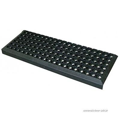 Gummi Stufenmatten Fußmatte Ringgummimatte 25x75 cm Treppenmatte Matte rutschhemmend 5 Stück