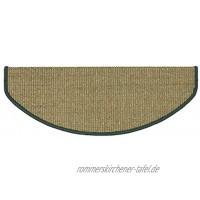 Meisterei Teppich Stufenmatten Treppenstufen 100% Sisal Natur ca. 24 x 65 cm grün