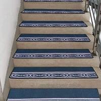 Rutschfester Sicherheitsteppich Treppenstufen Rutschfester Teppich Indoor-Set Von 7 Teppichtreppenstufen Stufenmatten Mit Selbstklebender Rutschfester Gummirückseite 50 Zoll X 12 Zoll Bequem Und Wei