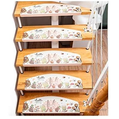 Teppichstufen für Treppen Stufenmatten Treppenmatten Treppen rutschfest Selbstklebende Treppenteppich Sicherheit Stufenteppich for Kinder Älteste und Haustiere LQHZWYC Color : C