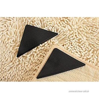 BBVS Teppichband Rutschfester Teppichgriff,Teppichpolster für Holz- und Hartböden Anti-Curling-Teppichgreiferband um Ihren Teppich an Ort und Stelle zu halten 16 Stück