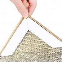 BBVS Teppichband Rutschfester Teppichgriff,Teppichpolster für Holz- und Hartböden Anti-Curling-Teppichgreiferband um Ihren Teppich an Ort und Stelle zu haltenweiß 180*30*2mm(16 Stück)