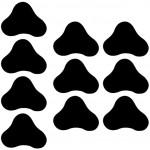 S SMAUTOP Anti-Rutsch-Teppichpads Machen die Ecken des Teppichs flach Die Teppichaufkleber sind für Holzböden und Fliesenböden geeignet