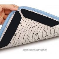 Teppichgreifer Antirutschmatte,8 Stück Wiederverwendbar Teppich Aufkleber,Doppelseitige Anti-Curling Rug Gripper,Rutschfester Teppichgriff für Holz,Fliesen- und Hartböden
