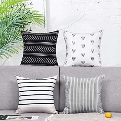 Alishomtll Kissenbezug Kissenhülle 4er Set Polyester Zierkissenbezug mit Reißverschluss Dekorativ Set für Sofa Schlafzimmer 45 x 45 cm