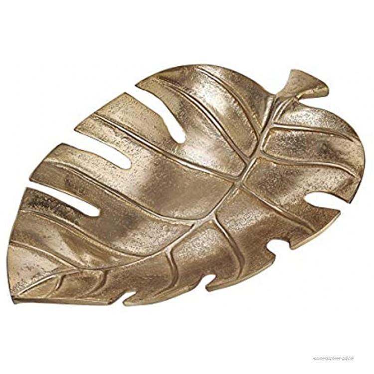 Butlers GOLDEN Nature Deko-Schale Monstera L 30 x B 20cm