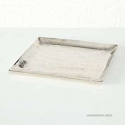 Dekoteller Silber Dekoschale Metall Teller Schale Alu Deko 20x20 o. 25x25 cm 25 x 25 cm