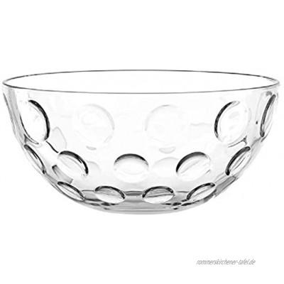 Leonardo Cucina Optic Glas-Schale runde Schale aus Glas spülmaschinengeeignete Salat-Schüssel Ø 295 mm 066338