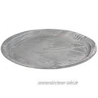 Rayher 46097000 Deko Platte in Betonoptik 30cm ø 3cm weiß gewischt