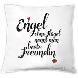 4you Design Kissen Engel ohne Flügel nennt Man Beste Freundin Zierkissen Dekokissen Geschenkidee Geburtstag Beste Freundin Weihnachten