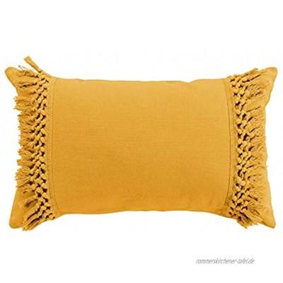 COTON d'intérieur Kissen gelb 30 x 50 cm