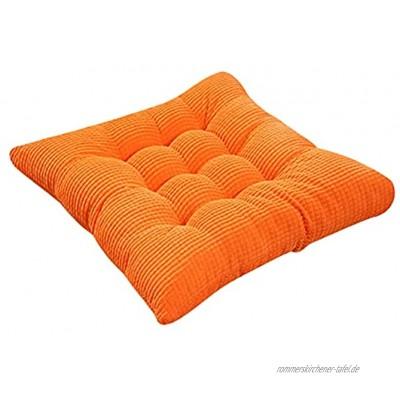 FeiliandaJJ Stuhlkissen mit Bänder 35x35cm Sitzauflage Bequemes Sitzkissen für Gartenstuhl Büro Boden Balkon Chair Cushion Orange One Size