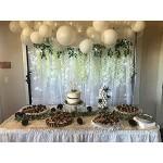 12 Stück Kunstblumen künstliche Glyzinien Seidenblumen aus Seide Heimdekoration 110 cm lang Kunstpflanzen für Hochzeiten zu Hause Garten Party usw Weiß