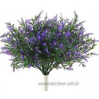 4 Stück Künstliche Blumen Lavendeln Kunstblumen Pflanze Blume Bouquet Gefälschte Lavendeln Deko für Zuhause,Garten Hochzeit DIY Party Büro Wohnkultur Lila