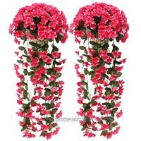 Adisputent zweifarbige künstliche gefälschte Rosengirlande kunstblumen Wein hängen Seide Blume künstliche Blume für Außen- und Innenhochzeit Wand Party Dekoration