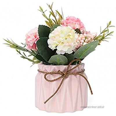Kunstblumen im Topf Indoor Outdoor Kunstpflanze Künstliche Blumen Deko Tischdeko Hochzeit Wohnzimmer Balkon Deko Schlafzimmer Badezimmer Künstliche Blumen Seide Bouquet Mini Künstliche Pflanzen
