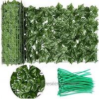 Künstlicher Efeu Sichtschutz Bildschirm Erweiterbare künstliche Hecken Zaun Faux Ivy Vine Leaf Dekoration für Indoor Outdoor Garten 50 * 300cm